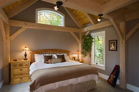 timber frame contemporary bedroom  york