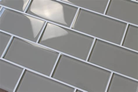 taupe 3x6 glass subway tiles rocky point tile glass