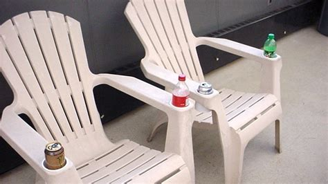 Repurpose Containers As Cup Holders On Outdoor Furniture