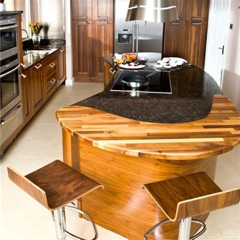 granite mixed with butcher block kitchen expansion ideas