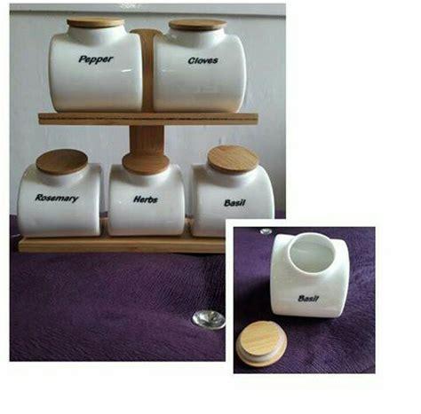 1 Set Tempat Bumbu Dapur jual tempat bumbu dapur set putih1 wadah kopi gula