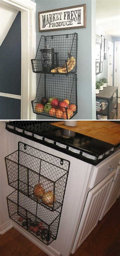 side of kitchen cabinet ideas 15 cool kitchen ideas for storing fresh produce