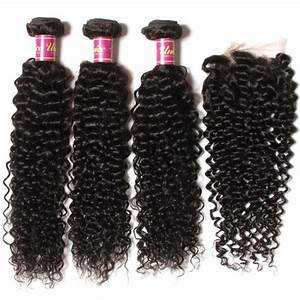UNice 3 Bundles Brazilian Hair Weave With Closure   UNice