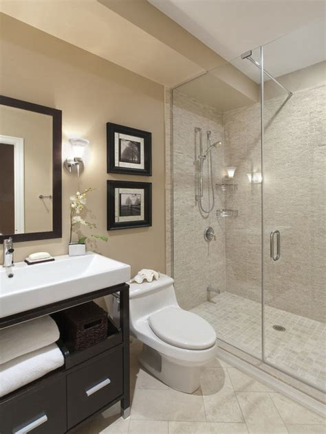 contemporary small bathroom ideas bathroom casual modern beige small bathroom with shower