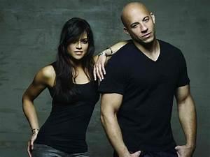 Michelle Rodriguez & Vin Diesel.