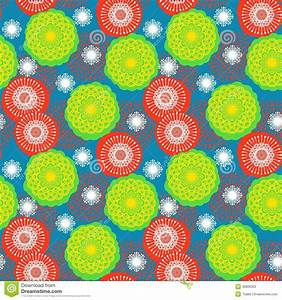 Multicolor Floral Pattern In Bright Colors Stock Photos