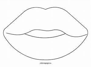 sense organs mouth coloring page With mouth template for preschool