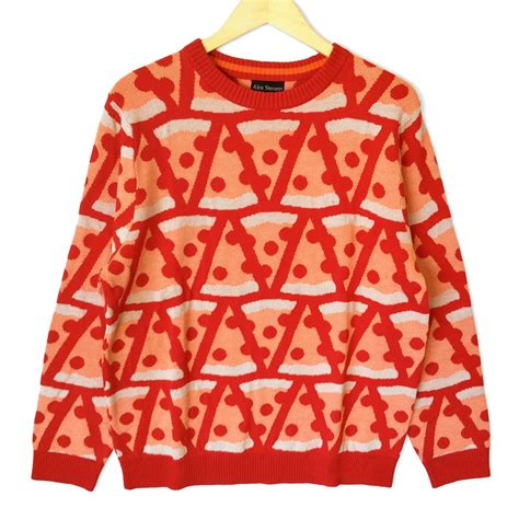 igly sweater alex pepperoni pizza sweater the