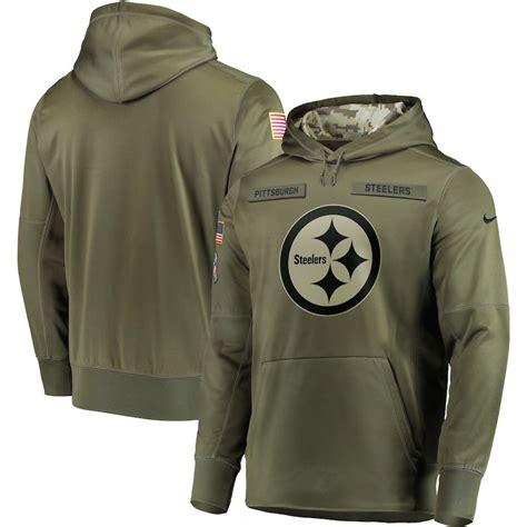 pittsburgh steeler salute service hoodie tee    xl
