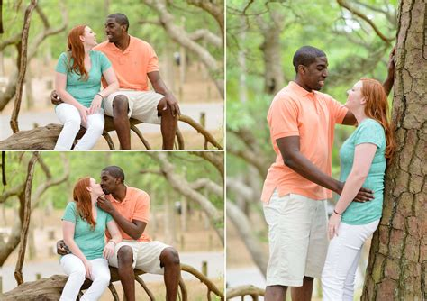 engagement portraits mixed race couple  dog   state park