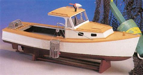 Toy Boat Making Kit by Maine Lobster Boat Wood Model Boat Kit Mw991 89 99