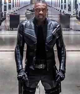 Fast Furious Hobbs Shaw Idris Elba Slim Fit Black