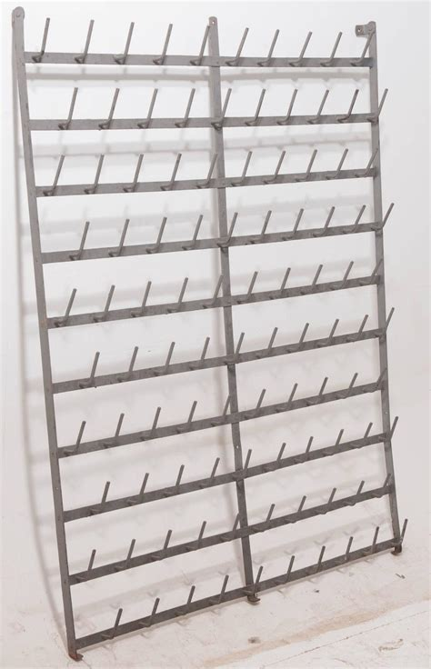 wall mounted drying rack french wall mounted wine bottle drying rack for sale at 1stdibs