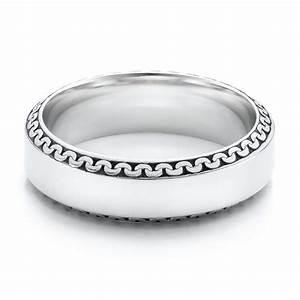 Men39s Engraved Wedding Band 101041 Seattle Bellevue
