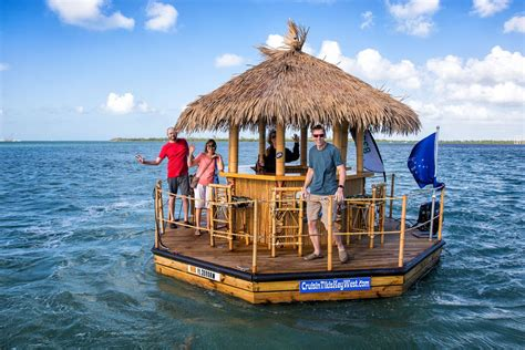Tiki Hut Prices Miami by Cruising Around Key West In A Floating Tiki Boat Earth