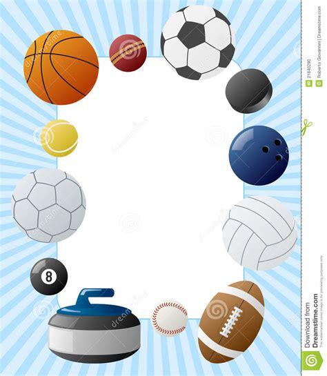 Sport Balls Photo Frame stock vector. Illustration of ball ...