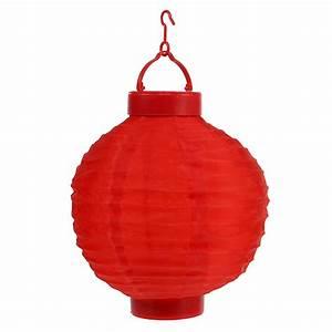 Lampions Mit Led : lampion led mit solar 20cm rot preiswert online kaufen ~ Watch28wear.com Haus und Dekorationen
