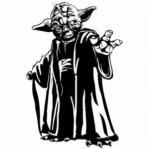 Adhesivo decorativo del Maestro Yoda en Teleadhesivo