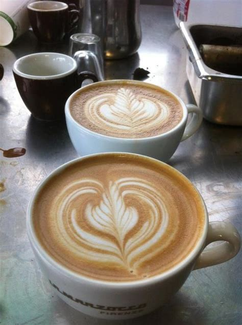 To get this right, you'll need a milk jug with a pointed beak. rosetta inside heart   Latte art, Latte, Food