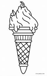 Ice Cream Coloring Pages Printable Cone Cool2bkids sketch template