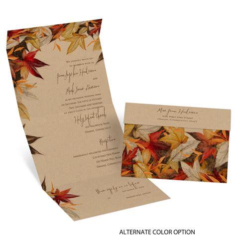 autumn maple seal  send invitation invitations  dawn