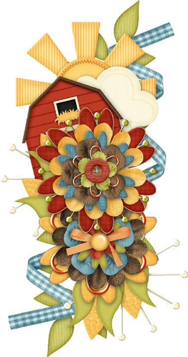 spring flowers clip art card embellishments scrapbook