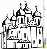 Orthodox Church Chiesa Ortodossa Coloring Orthodoxe Kerk Icons Template Cross Sketch Fotografie sketch template