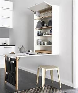 Table Pour Petite Cuisine : la table de cuisine pliante 50 id es pour sauver d ~ Melissatoandfro.com Idées de Décoration