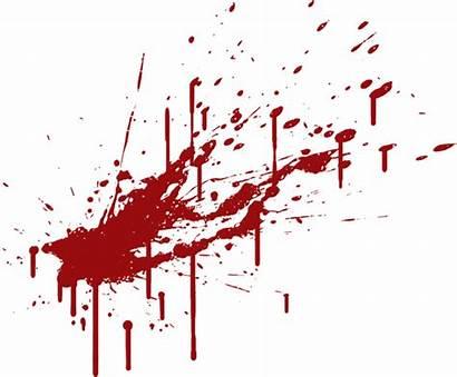 Blood Splatter Transparent Spatter Clipart Background Stain