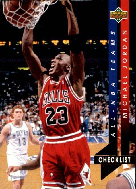 1993 94 upper deck all nba an15 michael jordan cl nm mt ebay