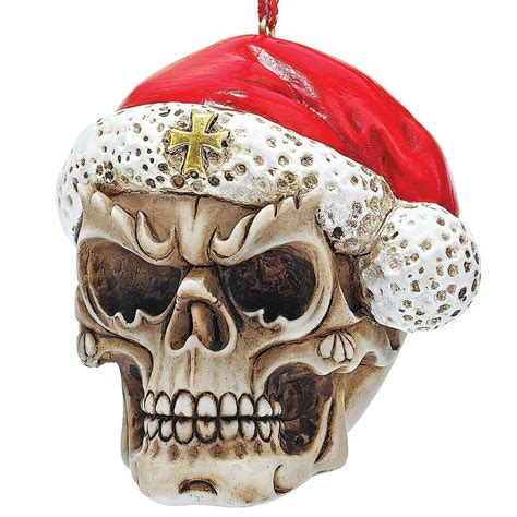 skull skeleton santa christmas tree ornament holiday xmas