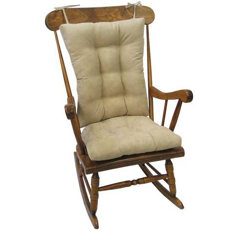 rocking chair cushion sets jumbo gripper twillo jumbo rocking chair cushion set