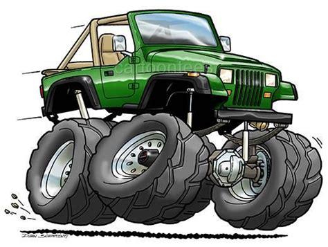Jeep Wrangler Yj Cartoon Tshirt 0561 Ga Muscle Car Auto