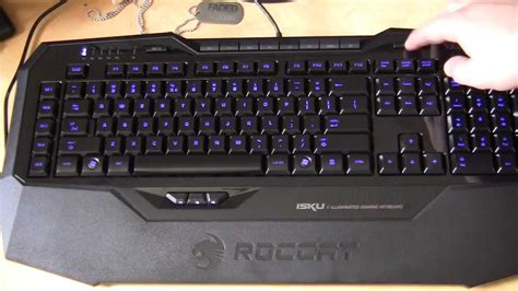 roccat isku illuminated gaming keyboard unboxing overview