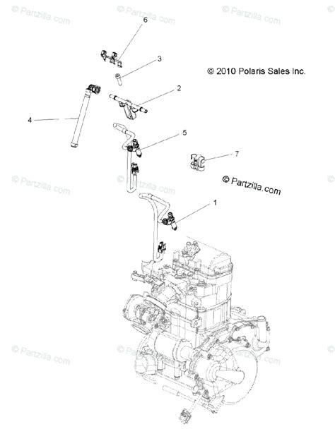 polaris side by side 2011 oem parts diagram for engine fuel injector all options partzilla com