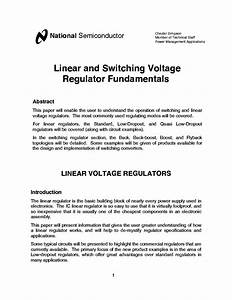Linear And Switching Voltage Regulator Fundamentals