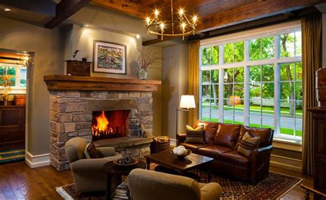 beautiful home designs interior 15 warm craftsman living room designs home design lover