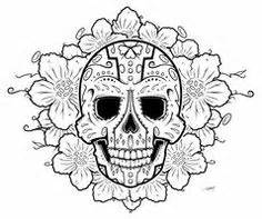 Girly Skull Pumpkin Carving Stencils by Printable Coloring Pages Of Skulls And Roses Deviantart