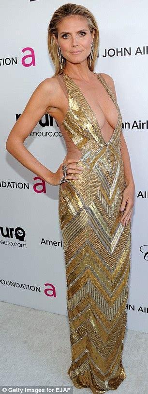 Oscars Heidi Klum Steals The Show Elton John