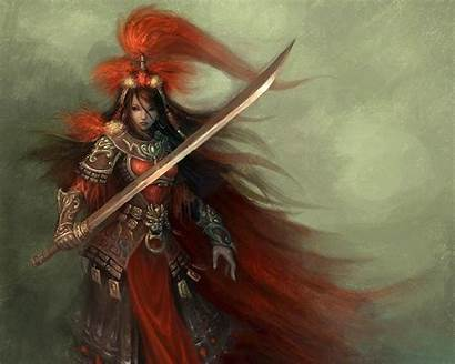 Samurai Female Warrior Fantasy Metal Heavy Wallpapers