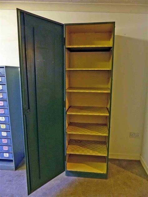 Tool Storage Cupboard by Vintage Industrial Metal Shelved Cabinet Cupboard