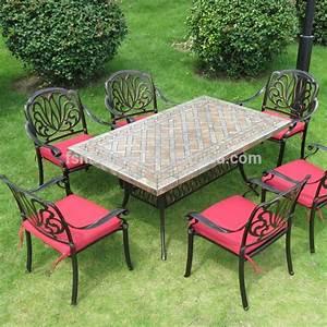 Jardin Extrieur Patio Terrasse Du Pont Ensemble De Meubles Carr Rond Mosaque De Marbre Table