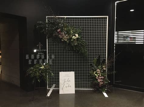 mesh wire wedding backdrop screen floral mesh display