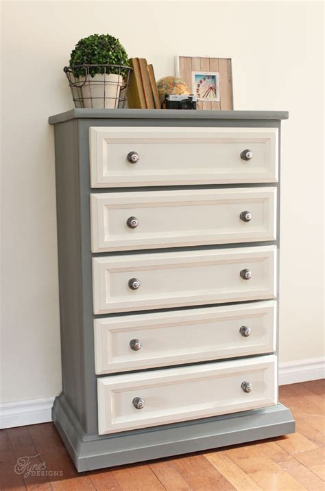 how to refinish a dresser with paint tall dresser makeover tutorial with trim and paint fynes designs fynes designs