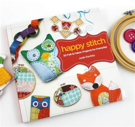 book review giveaway happy stitch  felt  fabric