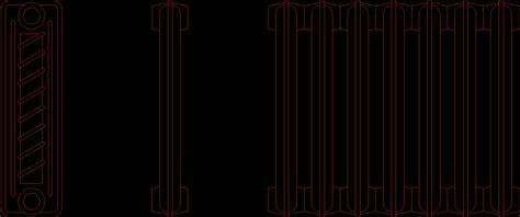 iron radiator cast dwg block for autocad designs cad