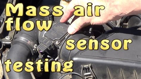 mass air flow sensor maf testing  dismantling