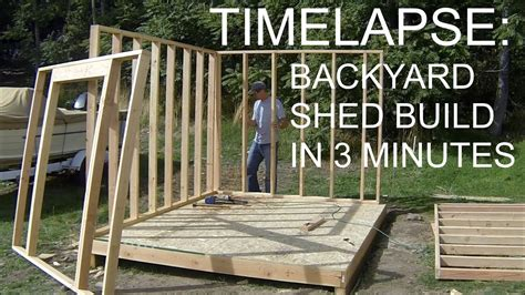 build outdoor shed complete backyard shed build in 3 minutes icreatables