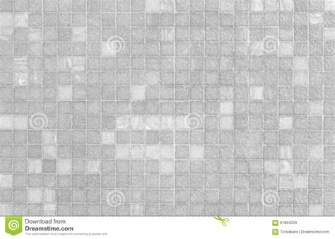White And Grey Mosaic Tile Wall Pattern Stock Image
