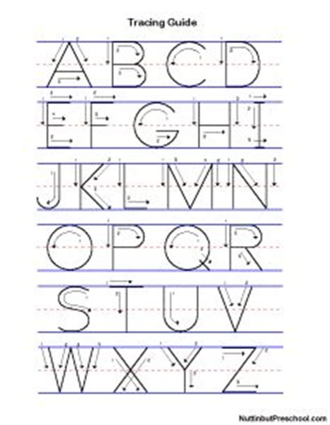 manuscript uppercase  lowercase tracing guide nuttin